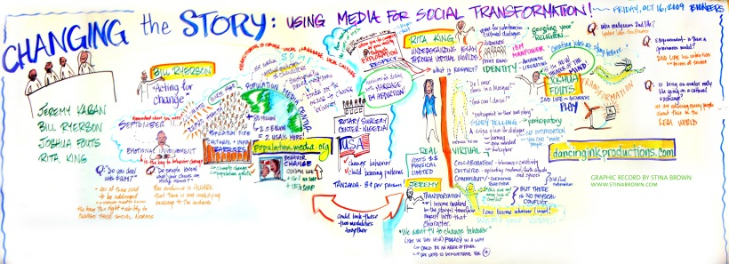 "Graphic Record, ""Changing the Story: Media for Social Transformation"""